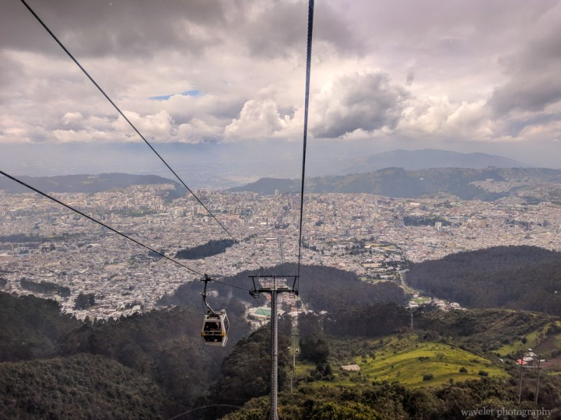 The TeleferiQo to the top of Cruz Loma
