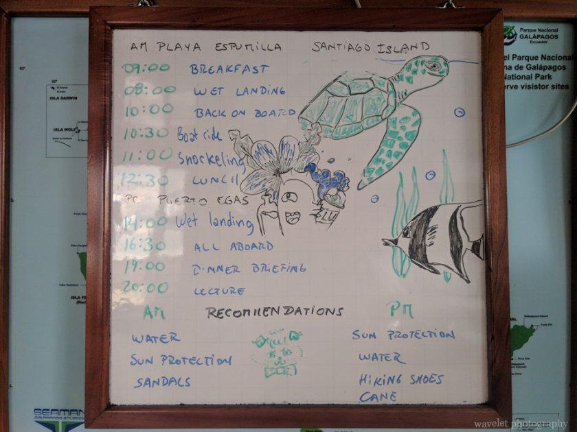 Itinerary of Playa Espumilla and Punta Vicente Roca