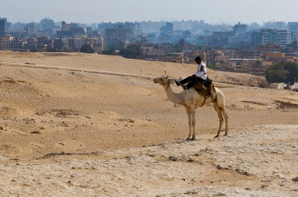 The Police Patrols the Giza Plateau