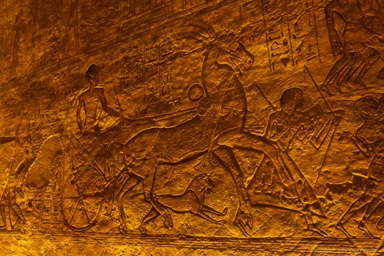 Reliefs about Ramesses' military campaign in the Great Temple