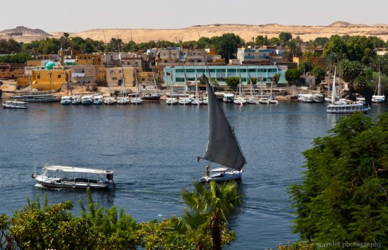 Fulucca on the Nile River in Aswan