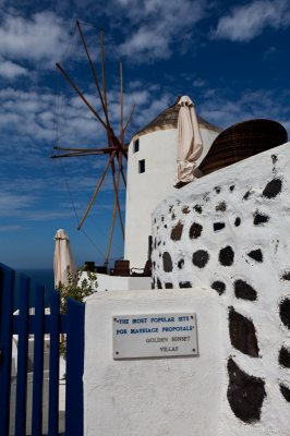 Windmill at the Northern Tip of Santorini
