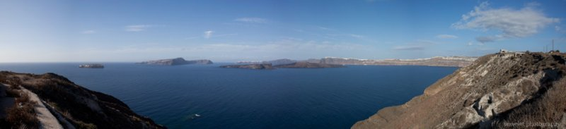 Caldera View from the Southern Tip of Santorini