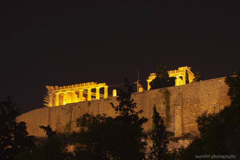 the Acropolis at the night, Athens