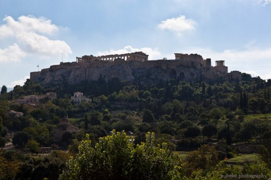 Overlook the Acropolis from Hephaisteion, Athens