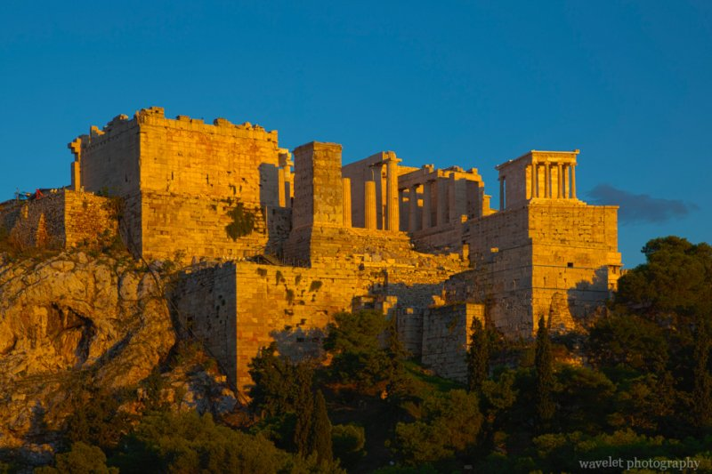 the Acropolis in the Sunset, Athens