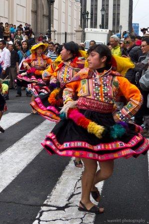 Parade in Plaza Mayor, Lima