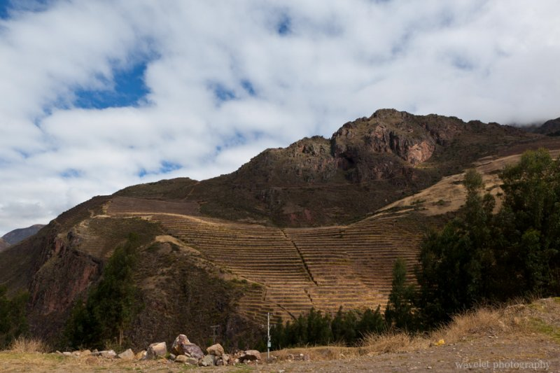 Terraces looked from afar, Písac