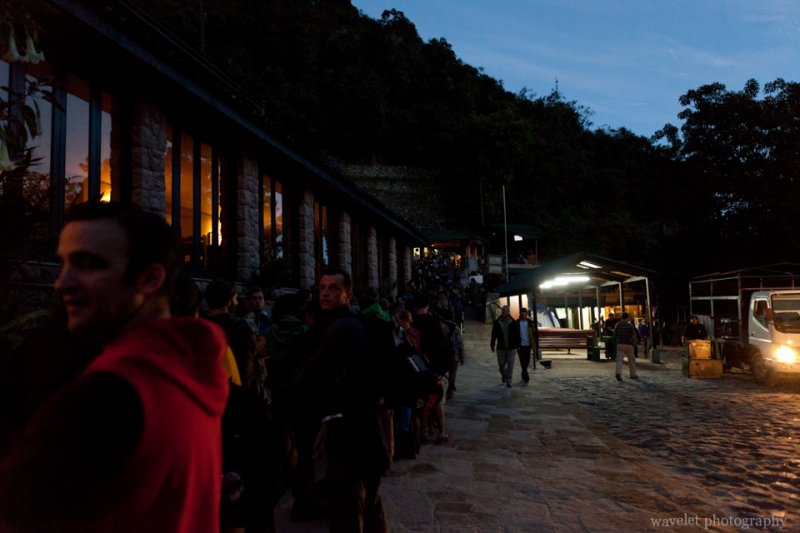 Lines at the Entrance of Macchu Picchu