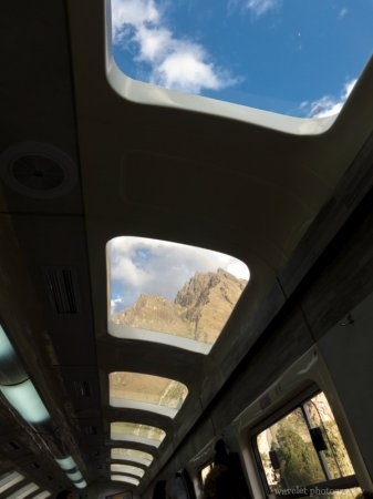 Machu Picchu to Cusco, Vistadome train