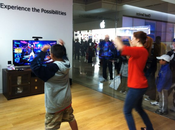 Dance with Kinect, Microsoft Store at Valley Fair