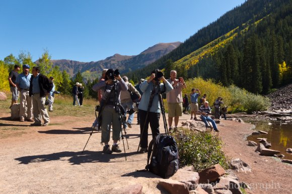 Photographers at Maroon Bells