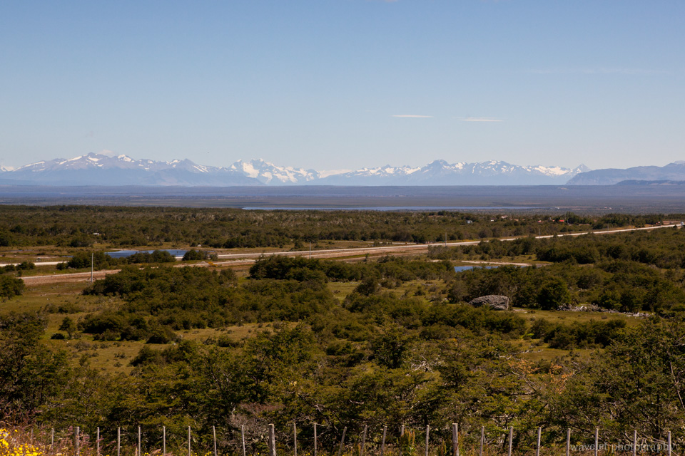 Overlook Mountains of the southern Andes.