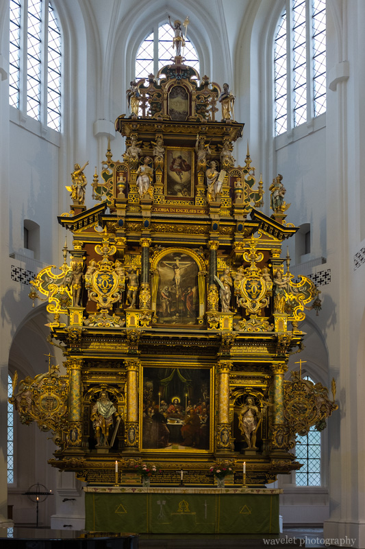 The altar in the St. Peter\'s Church, Malmö