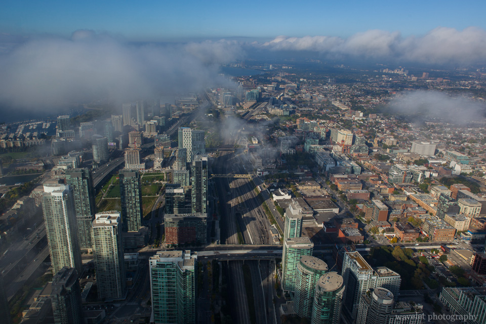 Overlook Toronto from CN tower