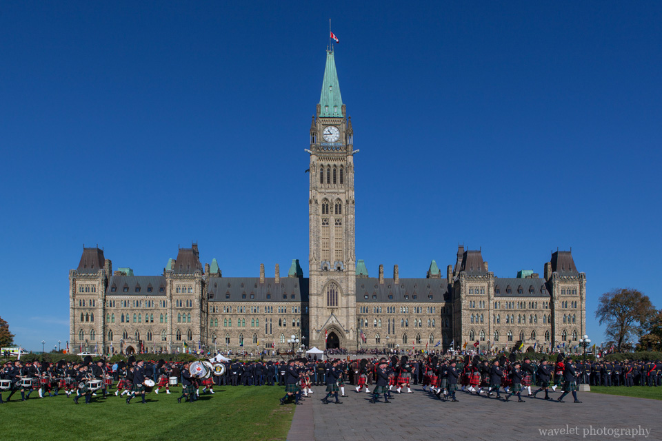 Parade of Canadian Police And Peace Officer\'s Memorial in front of Parliament of Canada, Ottawa
