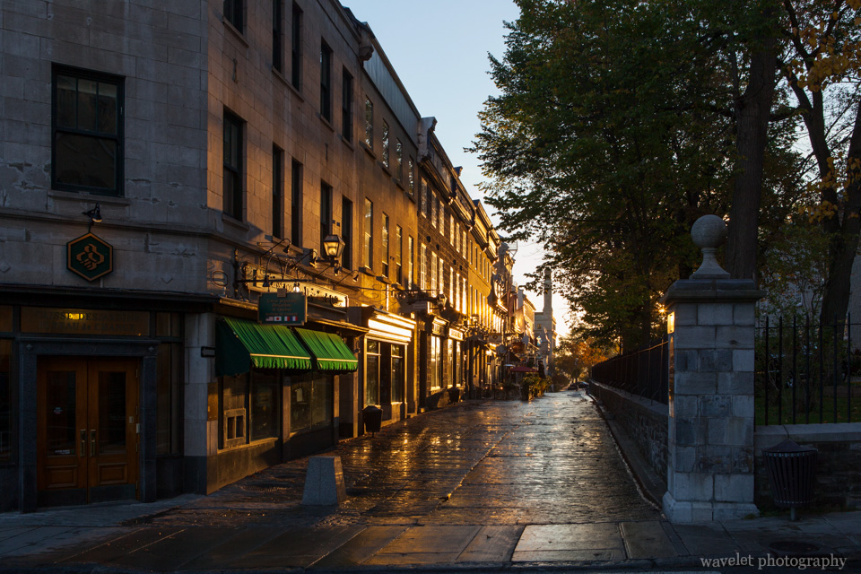 Rue Sainte-Anne in the morning, Quebec City