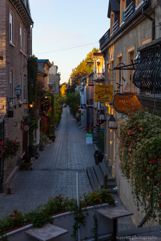 Petit Champlain in the early morning, Quebec City