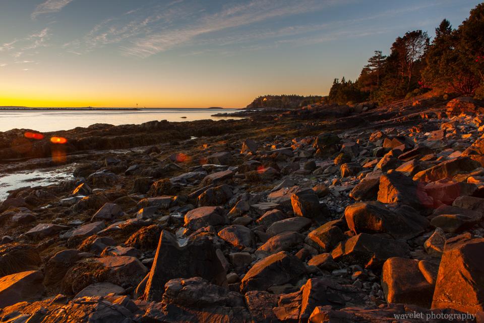 Sunrise, Near Bar Harbor, Acadia National Park, Maine