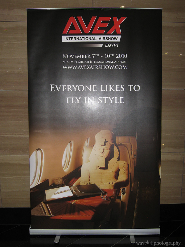 A Poster Features Pharaoh in Cairo Airport