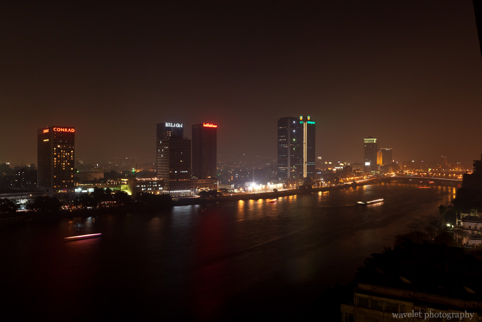 Overlook the Nile River from the Hotel Room