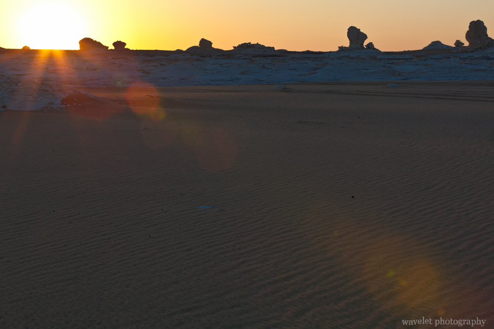 Sunrise in White Desert