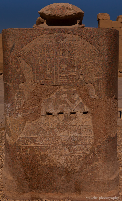 Karnak Temple, Granite Scarab Statue
