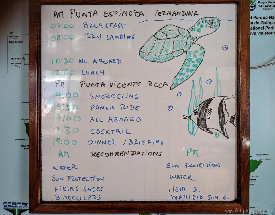 Itinerary of Punta Espinoza and Puerto Egas