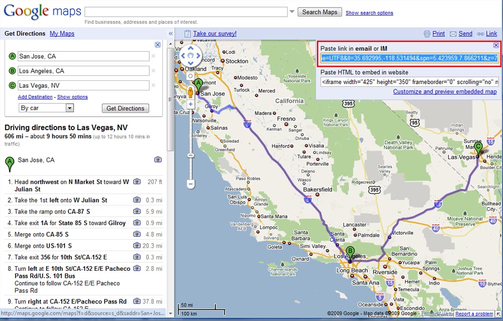 Google Maps Multi-Destination Route