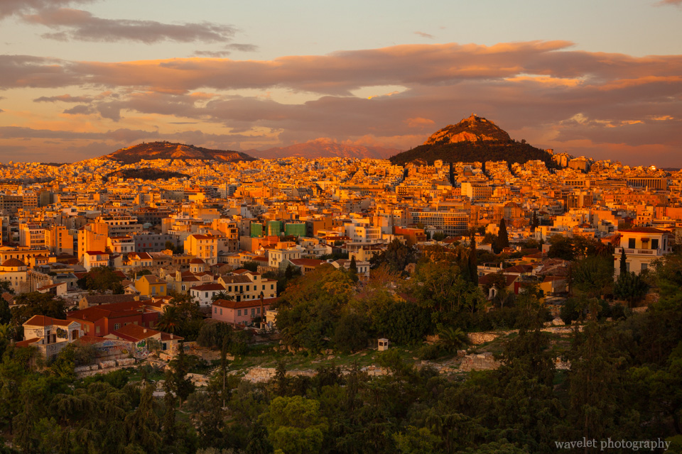 Athens in the Sunset