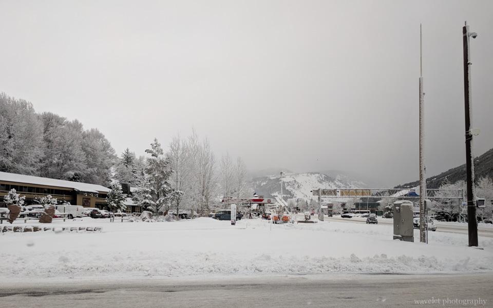 Jackson Hole in snow