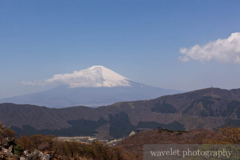 Mt. Fuji from Owakudani (大涌谷)