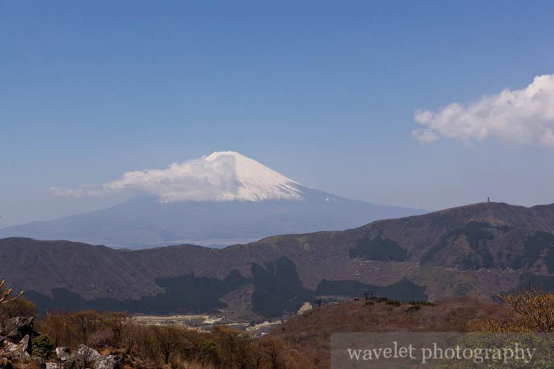 Mt. Fuji from Owakudani (大涌谷)