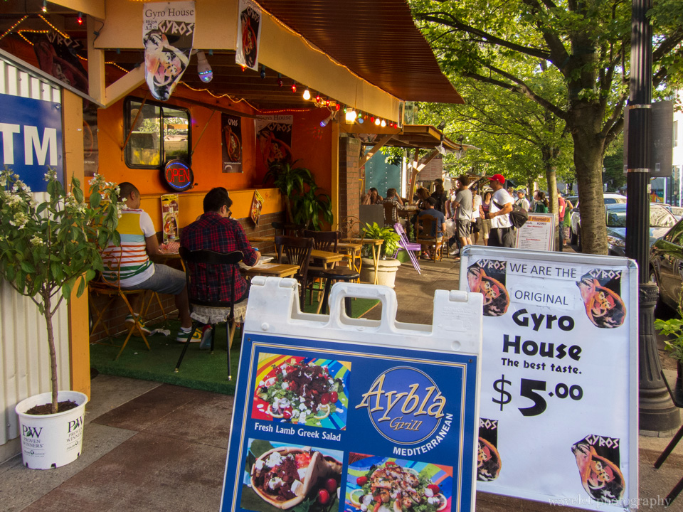 Street food carts, Portland, OR