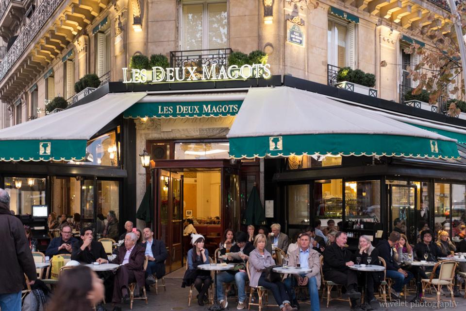 Les Deux Magots, Saint-Germain-des-Prés, Paris