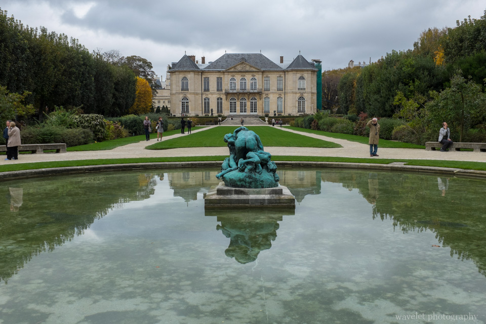 The garden of the hôtel Biron, Musée Rodin, Paris
