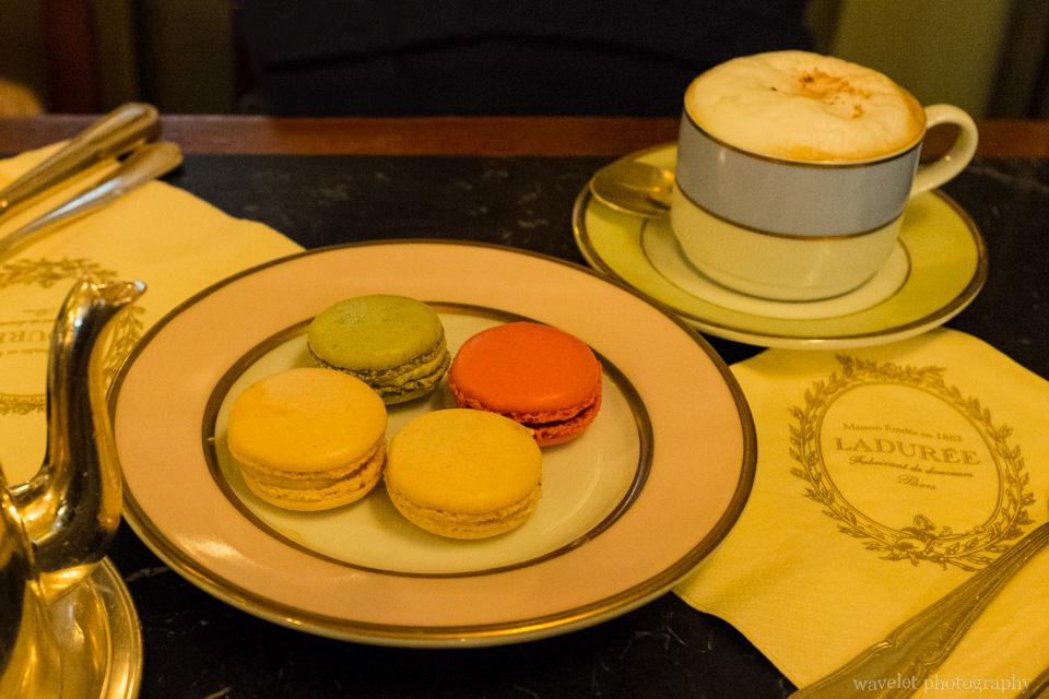 Macarons in Laduree at Rue Royale, Paris