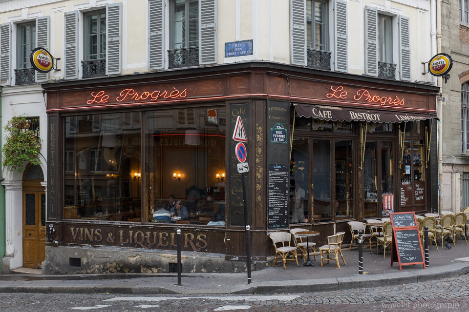 Restaurants at Montmartre, Paris