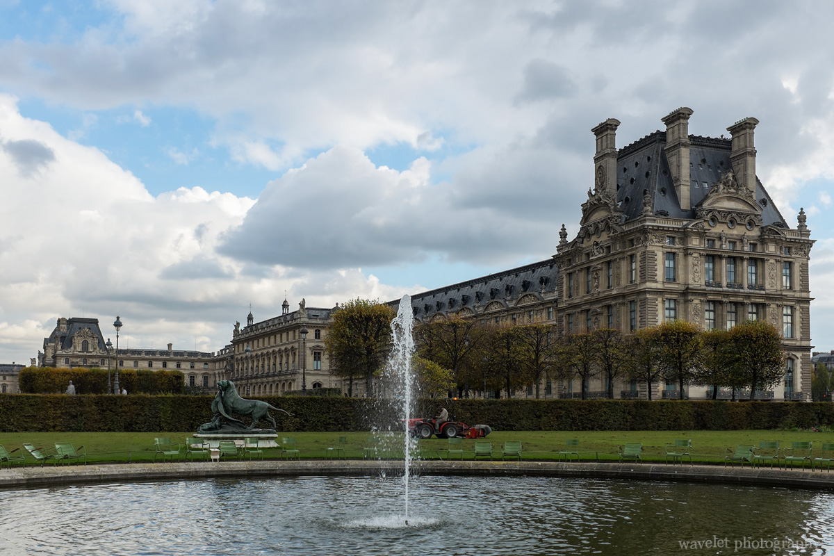 Jardin des Tuileries and the Pavillon de Flore, Paris