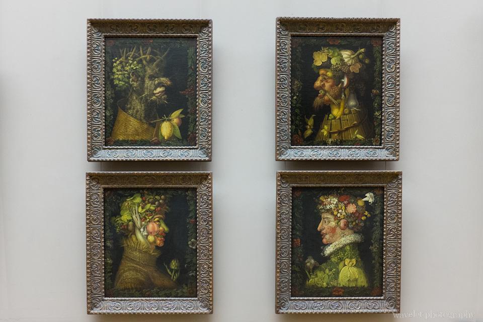 Four Seasons Painting by Giuseppe Arcimboldo, Musée du Louvre, Paris
