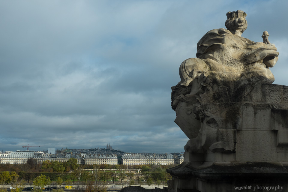 Overlook Jardin des Tuileries and Sacré-Cœur in the far background from Musée d'Orsay, Paris