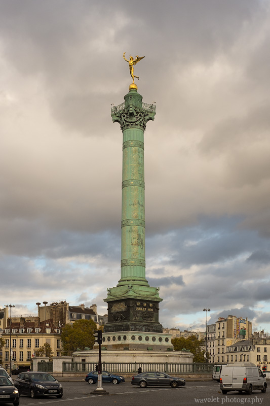 Colonne de Juillet (July Column) at the Place de la Bastille, Paris