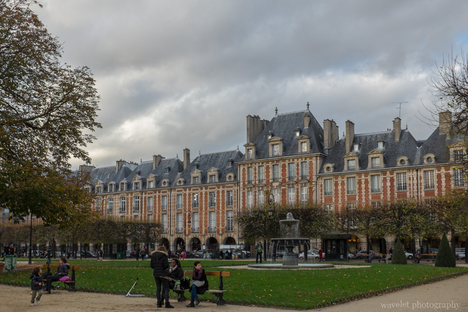 Place des Vosges in Marais district, Paris