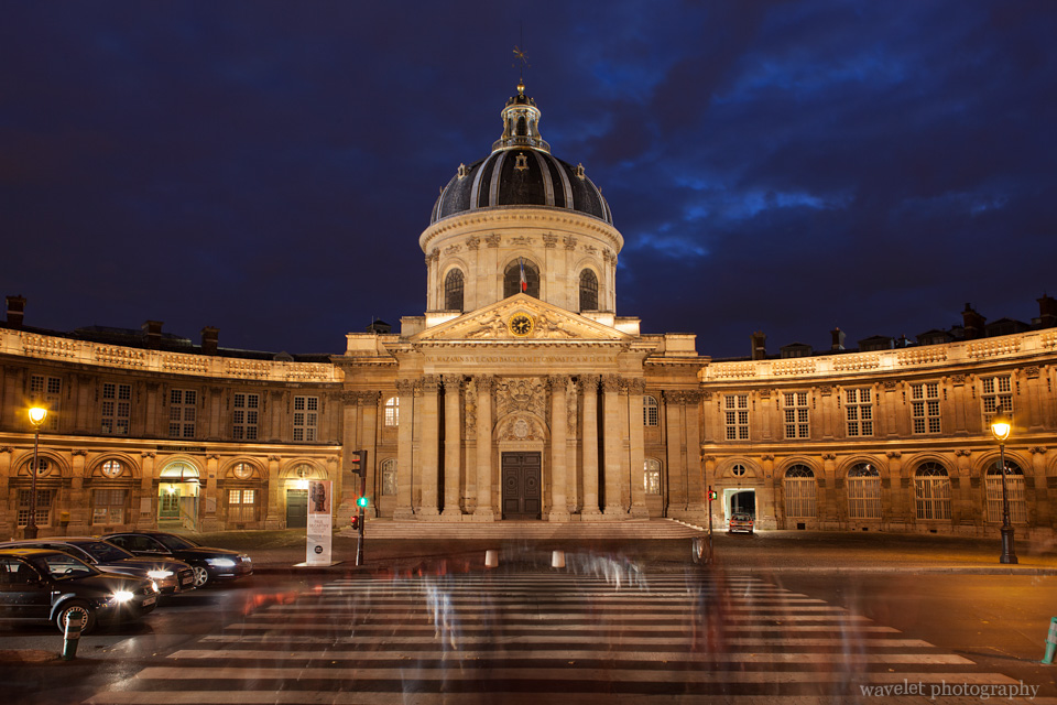 Institut de France at night, Paris