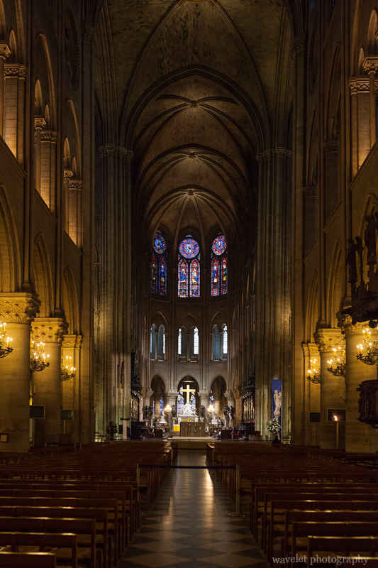 The nave looking toward the chancel, Notre-Dame, Paris