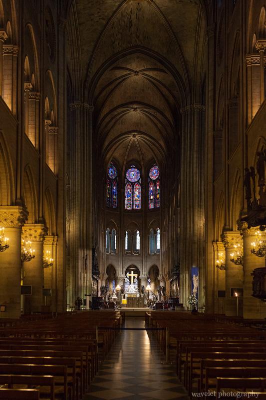 The nave looking toward the chancel, Notre-Dame, Paris