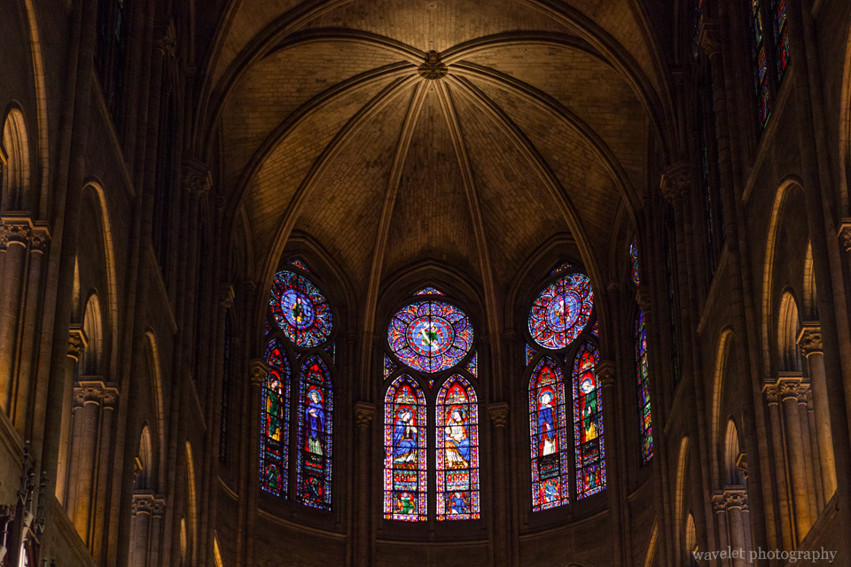 Chancel windows of Notre-Dame, Paris