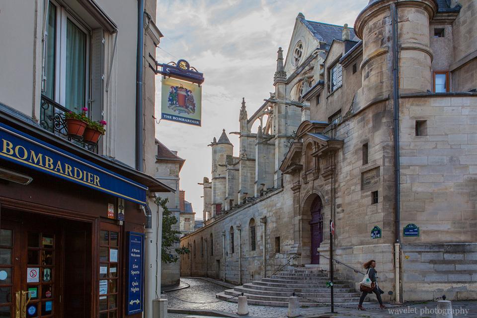 The side door of Saint-Étienne-du-Mont, Latin Quarter, Paris