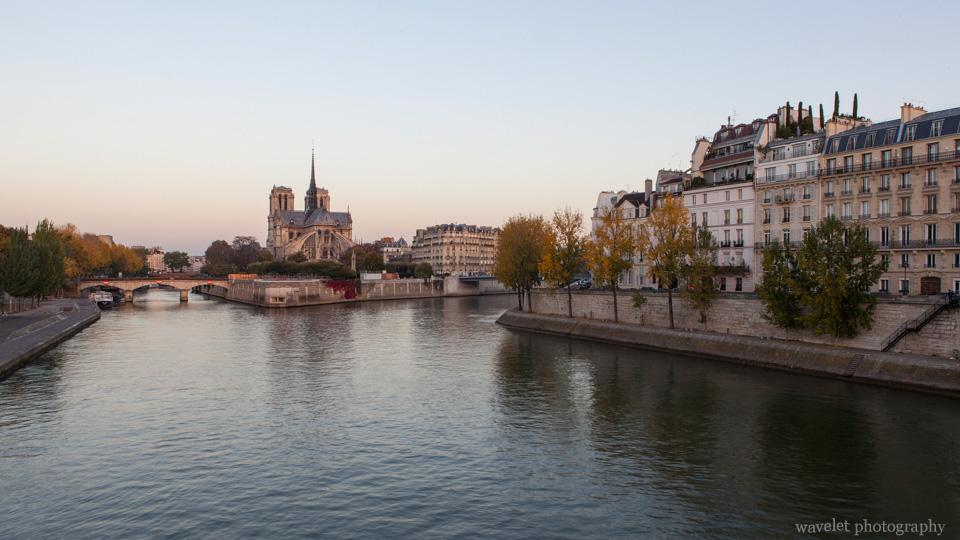 Notre Dame on Île de la Cité and Île Saint-Louis, Paris