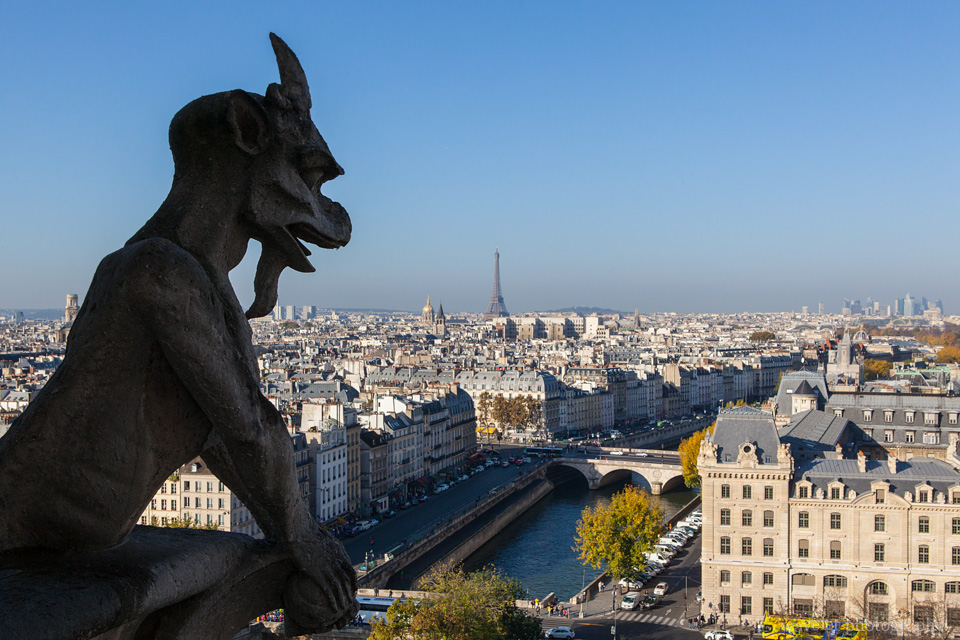 A chimera of Notre-Dame de Paris